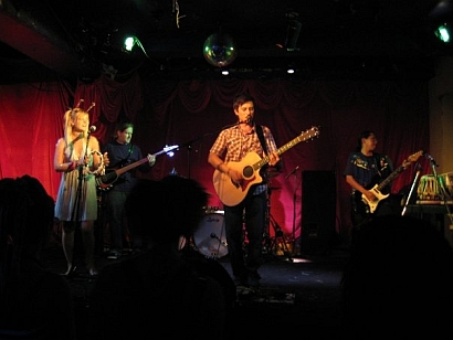 Keram and his band live at the El Mocambo - photo by Sara Ballantyne